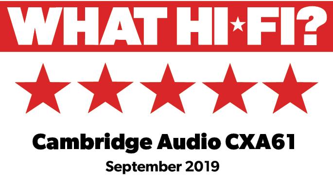 Najvišja nagrada What Hi-Fi? za Cambridge Audi CXA61