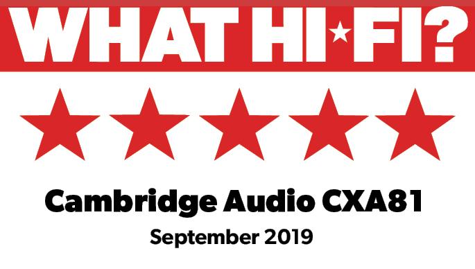Najvišja nagrada What Hi-Fi? za Cambridge Audio CXA81